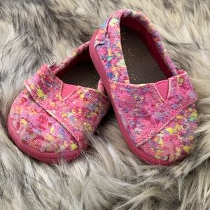 Pink TOMS Size 3 Baby Shoes